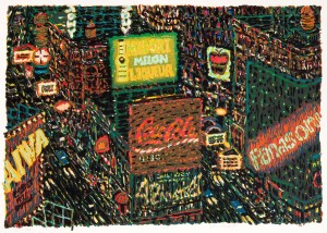 Yvonne Jacquette, Motion Picture (Times Square), 1987