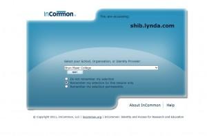 lynda_InCommon screen