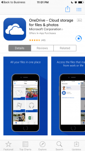 Download the OneDrive app...