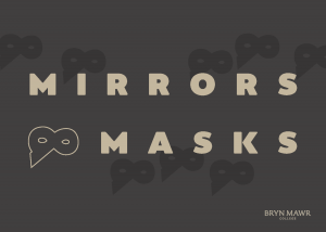 postcard image for Mirrors and Masks exhibition