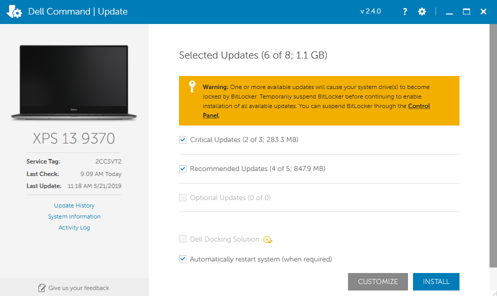 Dell Updates on College-owned Computers (suspending BitLocker) : Library & Information ...